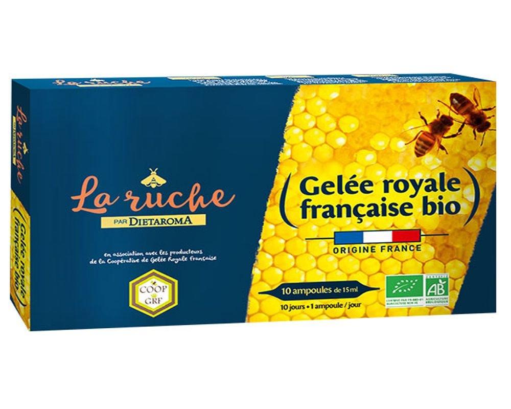 Gelée royale française bio - Dietaroma - 10 ampoules