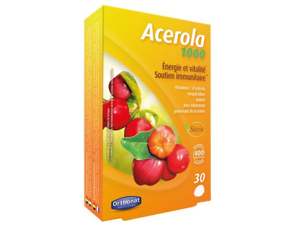 acerola 1000  Acerola 1000: natural vitamin C (100 tablets) - Orthonat