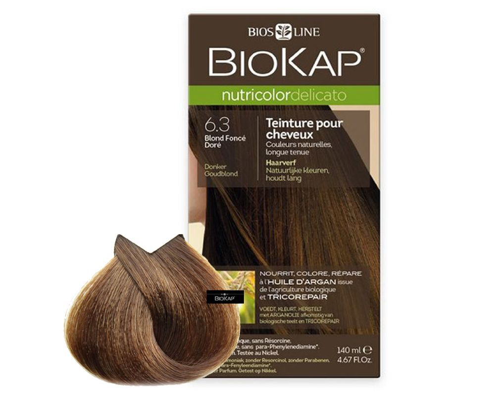 Biokap Nutricolor Delicato 63 Blond Foncé Doré 140 Ml Bios Line