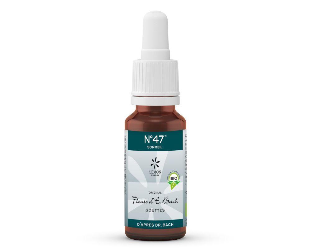 Sommeil Complexe N 47 Aux Fleurs De Bach Bio Lemon Pharma 20 Ml