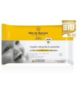Lingettes bébé au miel de Manuka IAA10+ BIO, 40lingettes