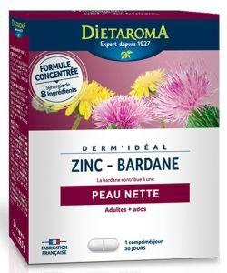 Dermidéal - Complexe Zinc-Bardane, 30comprimés