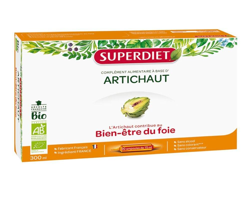 Artichaut Bio: bien-être du foie (20 ampoules) Super Diet