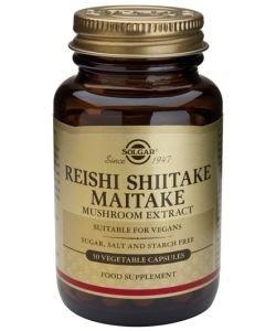 Extrait de champignons Reishi Shiitake Maitake, 50gélules