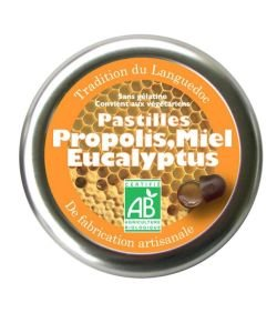 Pastilles Propolis-Miel-Eucalyptus BIO, 45g