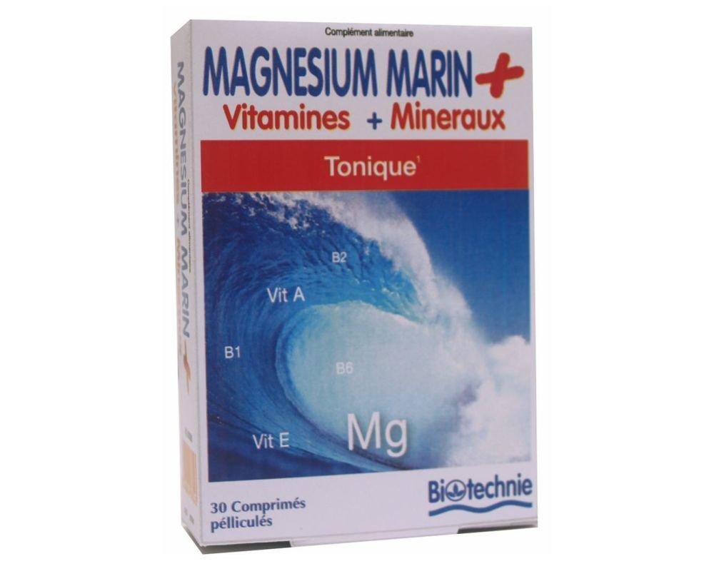 Magnésium Marin Tonique - Vitamines et Minéraux - 30 comprimés