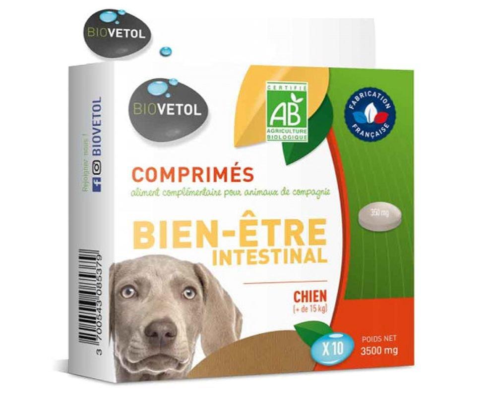 Comprimés Hygiène intestinale - Chien - Biovetol - 9 comprimés