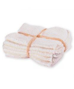 Lot de 5 débarbouillettes lavables - Coton bio, pièce