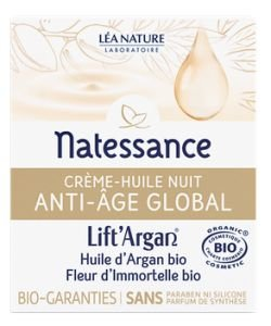 Anti-âge Global - Crème huile de Nuit BIO, 50ml