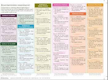 Questionnaire bilan émotionnel