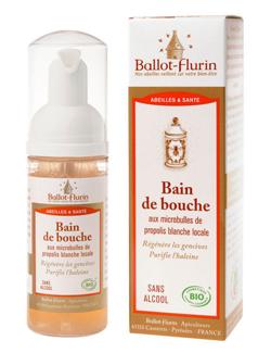 Bain de bouche aux microbulles de propolis bio 50ml for Bain de bouche maison