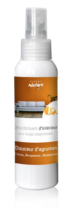 parfum d 39 int rieur douceur d 39 agrumes 125ml direct nature. Black Bedroom Furniture Sets. Home Design Ideas