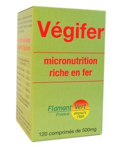 Compl ment en fer v gifer 120 comprim s flamant vert - Produit riche en fer ...