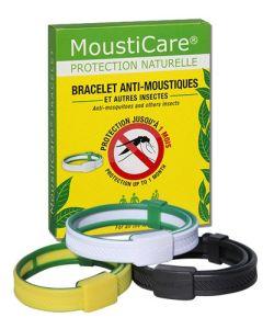 bracelet anti moustiques noir r pulsif naturel mousticare. Black Bedroom Furniture Sets. Home Design Ideas